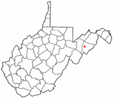 Location of Moorefield, West Virginia