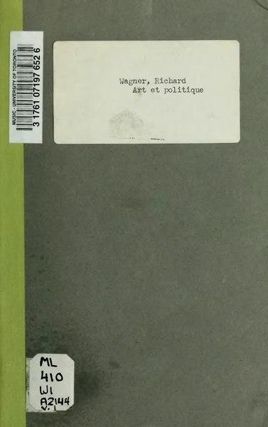 File:Wagner - Art et Politique, 1re partie, 1868.djvu