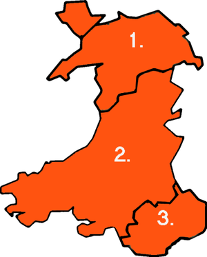 Local government in Wales - Image: Wales fire services numbered