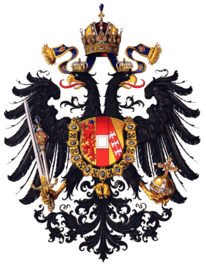 Treaty of the Three Black Eagles - Image: Wappen Kaisertum Österreich 1815 (Klein)
