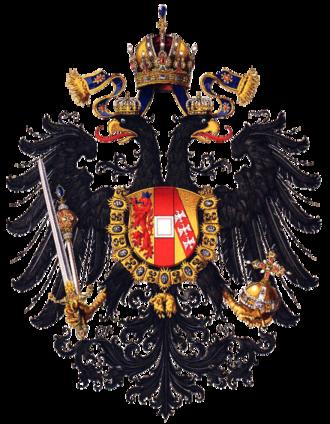 Tadeusz Kutrzeba - Image: Wappen Kaisertum Österreich 1815 (Klein)