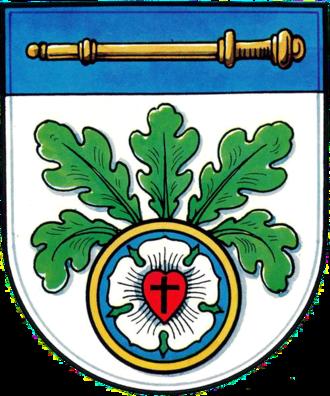 Luther rose - Image: Wappen Langenholtensen