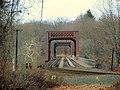 Warehouse Point railroad bridge from east end, December 2014.JPG