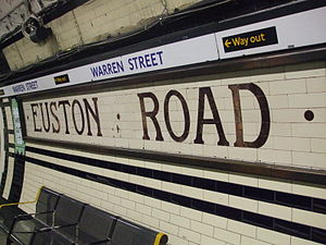 Warren Street tube station - Image: Warren Street stn Northern tiling