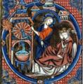 Water clock (representing a clock at the royal court in Paris, c.1250).png