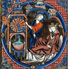 medieval illustration of a water clock