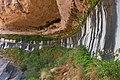 Water seep from sandstone in Hanging Garden SE Utah.jpg