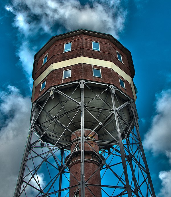 Watertoren Noorderplantsoen Groningen. Monumentnummer 485963.jpg