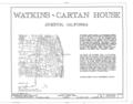 Watkins-Cartan House, 25 Isabella Avenue, Atherton, San Mateo County, CA HABS CAL,41-ATH,2- (sheet 1 of 7).png