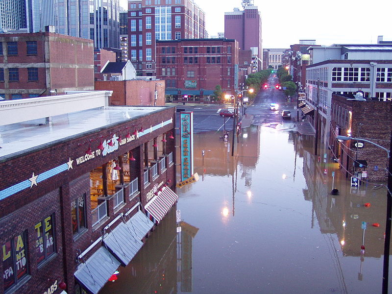 File:Welcome Downtown Nashville Flood.jpg