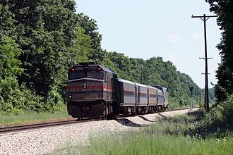 Wolverine (train) - Image: Westbound Amtrak Wolverine west of Kalamazoo, June 2009