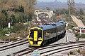 Westbury North - GWR 158961 Brighton train.JPG