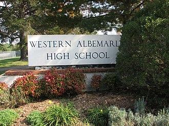 Western Albemarle High School - Western Albemarle High School entrance
