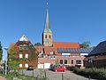Wettringen, toren van die Pfarrkirche Sankt Petronilla in straatzicht foto4 2013-09-28 11.50.jpg