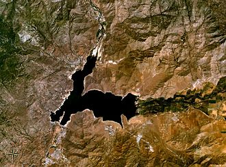 Lake Isabella - Satellite image of Lake Isabella