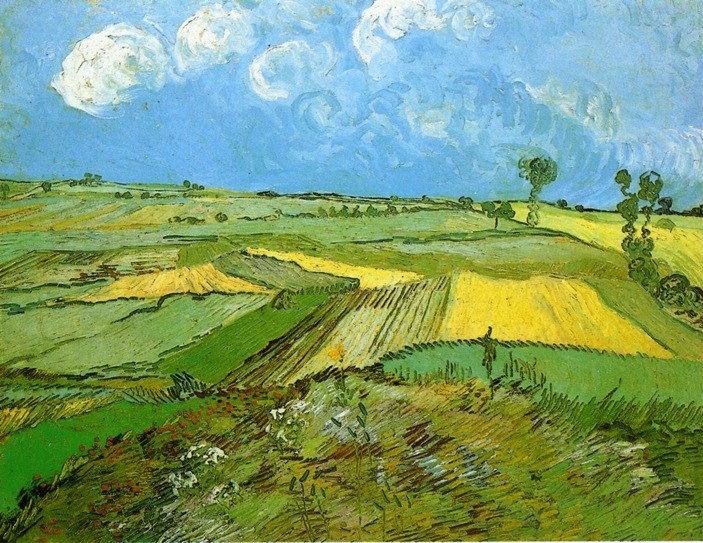 Wheat Fields at Auvers Under Clouded Sky 1890 Vincent van Gogh