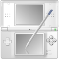 White Nintendo DS with pen icon.png
