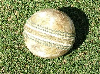 Cricket ball - White balls are used in many limited overs cricket matches, especially those involving floodlights (day/night games). This is because a red ball under yellow floodlights takes on a brownish colour which is very similar to the colour of the pitch.