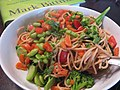 Whole Wheat Spaghetti with Peanut Sauce (3117323152).jpg