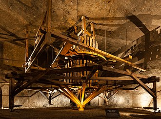 Wieliczka Salt Mine - Hungarian-type horse treadmill, late 18th century, in Komora Kraj (the Country Chamber)
