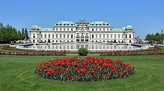 Belvedere, Vienna historic building complex in Vienna, Austria