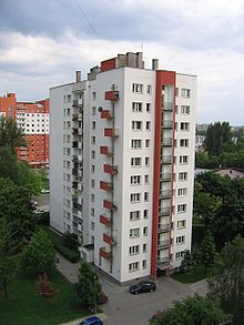A Typical Polish Apartment Block Built In The 1970s