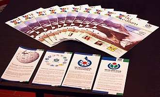 Folded leaflet - Leaflets and Wikimedium magazine of the Wikimedia Czech Republic