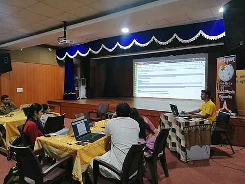 Wikisource and Wikidata training for Sanskrit Wikimedians- day 1.3.jpg