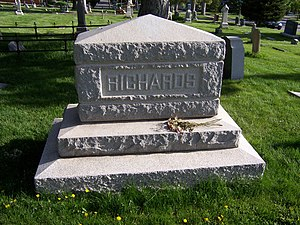 Willard Richards - Willard Richards' grave marker