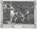 William Hogarth - Industry and Idleness, Plate 9; The Idle 'Prentice betrayed and taken in a Night-Cellar with his Accomplice.png