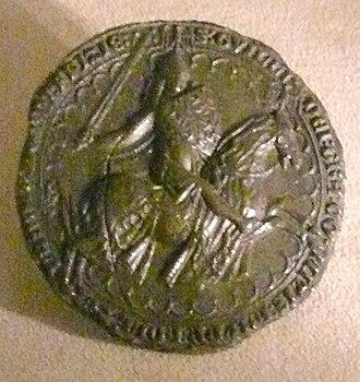 William I, Count of Hainaut - Seals of William I