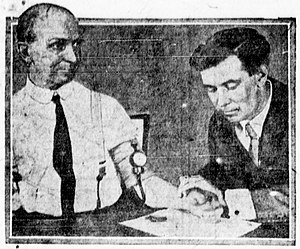 William Moulton Marston - William Marston (right) in 1922, testing his lie detector invention