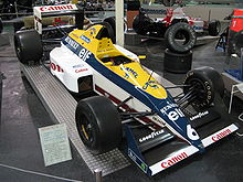 Photo d'une monoplace Williams FW12 à moteur Judd