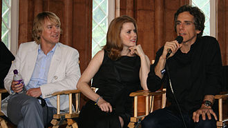 Frat Pack - Owen Wilson (left) and Ben Stiller (right) with Amy Adams in May 2009 promoting Night at the Museum: Battle of the Smithsonian
