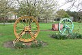 Winding wheels at Oakthorpe Primary School - geograph.org.uk - 797776.jpg