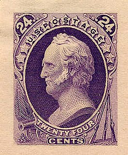 Lost Continental United States postage stamp depicting General Winfield Scott
