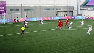 Women's association football - Iran versus Turkey in Singapore Youth Olympic games in Football in 2010