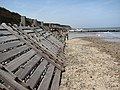 Wooden revetment - geograph.org.uk - 799647.jpg