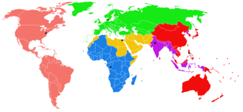 World Health Organization Regions.