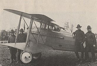 """SPAD S.VII - Both the S.VII and S.XIII shared the exposed aileron bellcrank as part of its control linkage, with the """"pulpit"""" style A.2 (top)"""