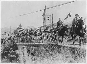 Battle of Saint-Mihiel - American engineers returning from the St. Mihiel front