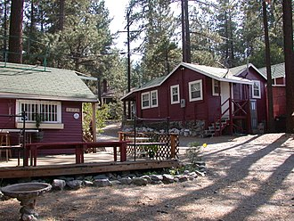 Wrightwood, California - Downtown Wrightwood is dotted with many old resort cabins from the 1930s