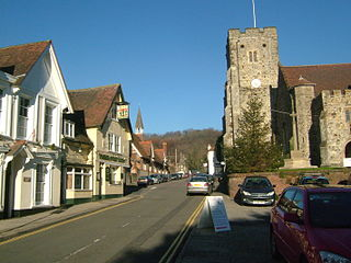 Wrotham village situated in Kent, England