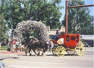 Jackson Hole - Image: Wy Jackson tsquare stagecoach
