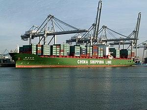 Xin Lian Yun Gang p2, at the Amazone harbour, Port of Rotterdam, Holland 24-Jan-2006.jpg
