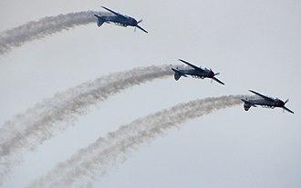 Yakovlev Yak-18 - Aerobatic formation of Yak-18s
