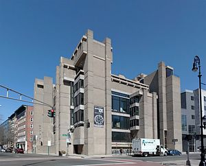 Rudolph Hall - The newly expanded Yale Art and Architecture Building, with the new addition to the right of Paul Rudolph's original Brutalist design