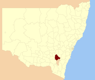 Yass Valley Council - Location in New South Wales