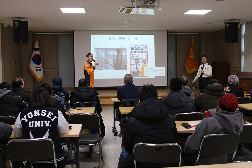 Yonsei-KOICA Scholarship Program Hoengseong Fire Station disaster psychology education IMG 5352