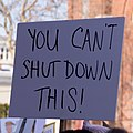 You can't shut down this! -WomensMarch -WomensMarch2018 -SenecaFalls -NY (38908952705).jpg